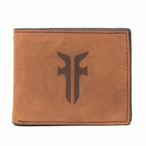 NEW in packaging Frye Bookfold Leather Wallet Tan